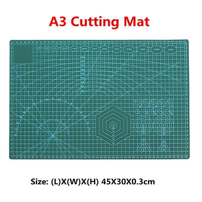 45x30CM A3 PVC Self Healing Cutting Mat Craft Quilting Grid Lines Printed Board