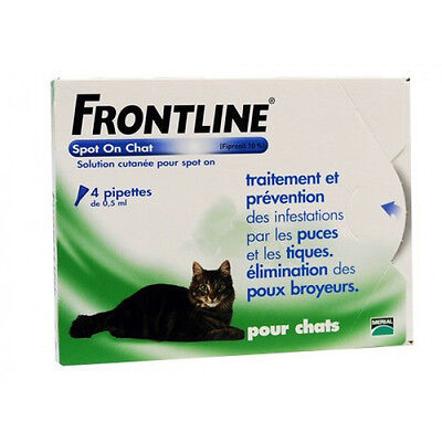 Frontline Spot On soin antiparasitaire pour chats Boîte 6 Pipettes