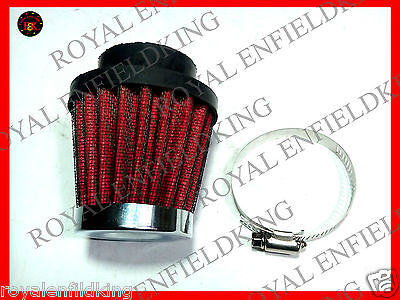 10 X Brand New Royal Enfield 350cc/500cc Cone Air Filter  RED  BEST QUALITY