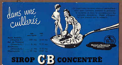 C-B VITAMIN SYRUP, MOWATT & MOORE, MONTREAL: Scarce CANADIAN Ink Blotter (1940)