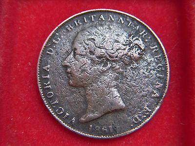 1861 Victorian One Twenty Sixth Of A Shilling From Jersey From My Collection P2