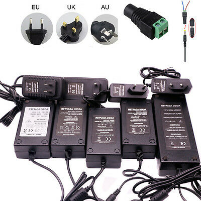 AC to DC 12V/5V/9V/24V Power Supply 2A/3A/5A Adaptor EU/UK/AU Plug for LED Light