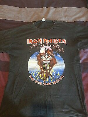 Iron maiden monsters of rock tshirt size xl