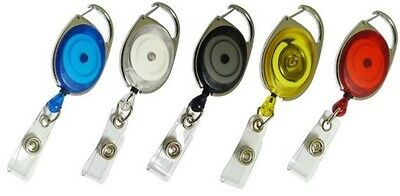 Premier Retractable YoYo Badge Reel for  ID Card Holders - ALL Colours