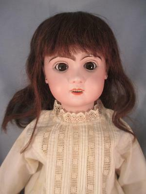 """Antique French Bisque 27"""" Jumeau Doll #12 Bebes Reclame Sleep Eyes Open Mouth"""