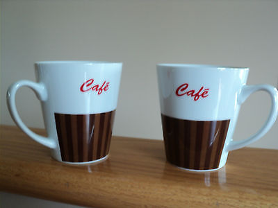 TWO CAFE COFFEE MUG/CUP by MORRIS NATIONAL INC. !