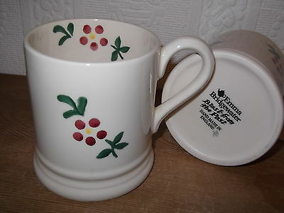 Emma Bridgewater RED FLOWER 1/2 Mug New Rerun
