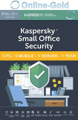 Kaspersky Small Office Security V4.0 - 5 User 5 Mobile 1 Server - EU Version