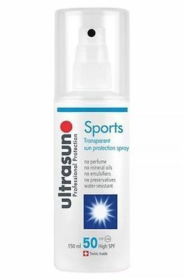 Ultrasun Sports Transparent SPF 50 Sun Protection Spray 150ml Vegan New Sealed