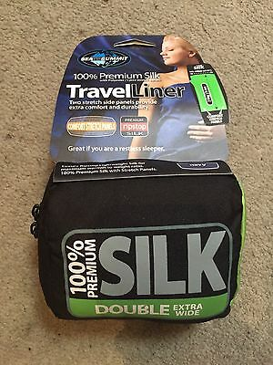 Sea To Summit Travel Liner 100% Premium Silk - Double Extra Wide