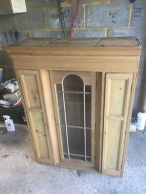 Antique Pine Cupboard Interesting Design In Good Condition
