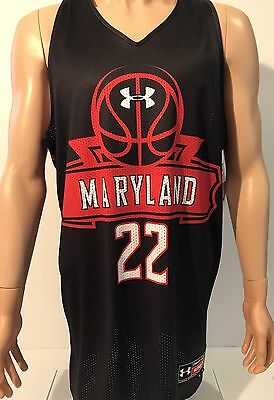 NEW Maryland Terrapins Under Armour Men's Reversible Basketball Jersey Large