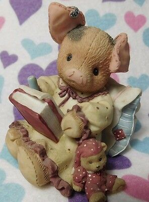 """1996 Enesco Tlp """"dear Friend, Sow Are You """", Writing A Letter In Bed / X. Cond"""