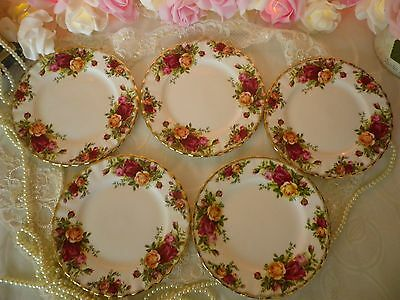 Lovely Royal Albert 5 Side Plates,Old Country Roses, 1st Quality Good Cond.