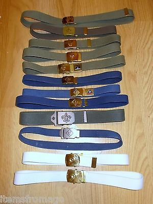 BOY SCOUT BELT - Your Choice - Different Sizes / Colors to choose from