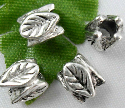 Free Ship 50Pcs Tibetan silver Flower Spacers Beads Findings 7x6mm