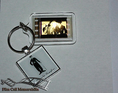 Charlie chaplin - 35mm Film Cell Movie KeyRing and Pendant Keyfob Gift