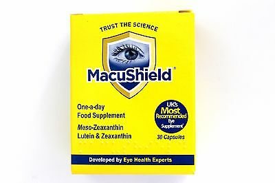MacuShield One A Day Lutein, Zeaxanthin Meso-Zeaxanthin Supplement - 30 Capsules