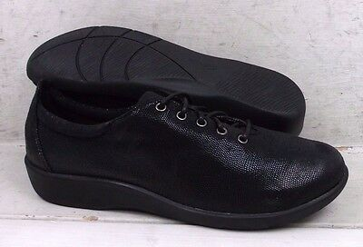 Clarks Cloud Steppers Womens Sillian Tino Black Lace Up Shoes 22092 size 7.5 M