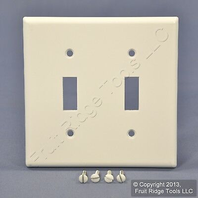 Leviton White EXTRA DEEP 2-Gang Toggle Switch Cover Wall Plate Switchplate 88309