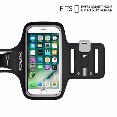 """Universal Sweat Resistant Sports Armband For 5.1"""" Smartphones"""