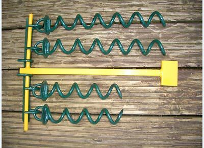 Bouncy Castle Ground Anchors 4 Anchors 2 X 400Mm & 2 X 250Mm & Tool And Stand