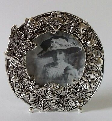 Silver Scenes 9.5cm Poppies Floral Butterfly Picture Photo Frame Dated 1991