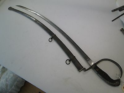 Wwi Barvarian Officers Artillery Sword With Scabbard Etched Blade Wkc Make #l144