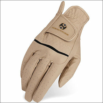 08 Size Heritage Leather Premier Show Horse Riding Equestrian Glove Beige