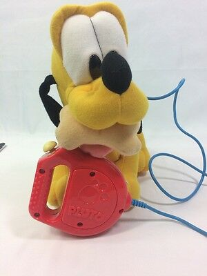 Mattel Disney's Walk 'N Wag Pluto Wired Remote Plush Toy1999 Mattel(WORKS GREAT)