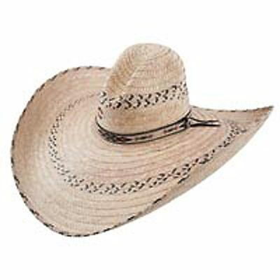 6 1/2 Charlie1Horse Mariposa Mexican Palm Straw Western Style Sun Cowboy Hat