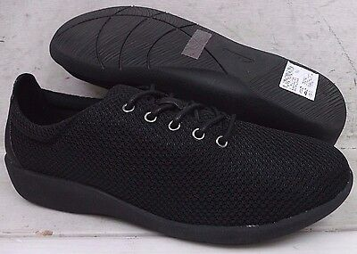 Clarks Cloud Steppers Womens Sillian Tino Black Lace Up Shoes 12006 size 8 M