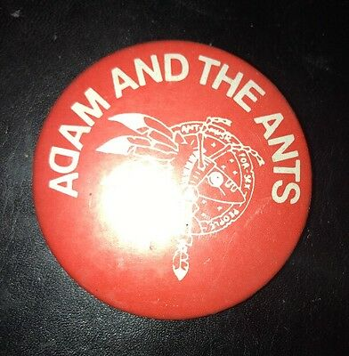 ADAM AND THE ANTS Vintage 1980's Pin Badges