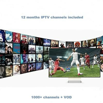 Android TV box KM5 with 12 months IPTV subscription, 1000+ channels and VOD.