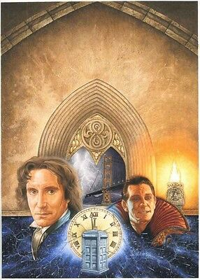 Dr Who TV Movie Original Artwork - Paul McGann as the Doctor Painted Art