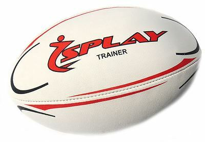 Splay Trainer Rugby Ball (Red) - Size 5 TRAINING Rubber Pre Match balls coaching
