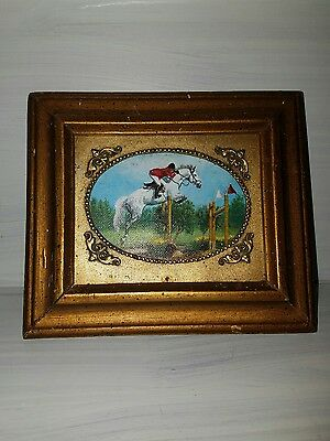 Vintage Miniature Oil Painting on board, framed and signed by artist