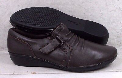 NEW Clarks Womens Everlay Coda Dark Brown Leather Shoes 11994 size mm 8.5 N*
