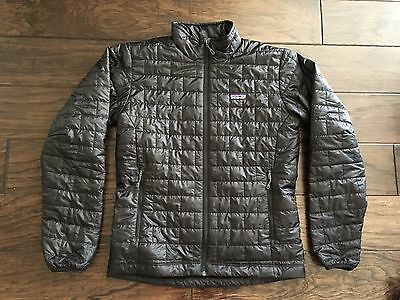 Patagonia Nano Puff Jacket Mens Black Medium M Primaloft Gold Insulation