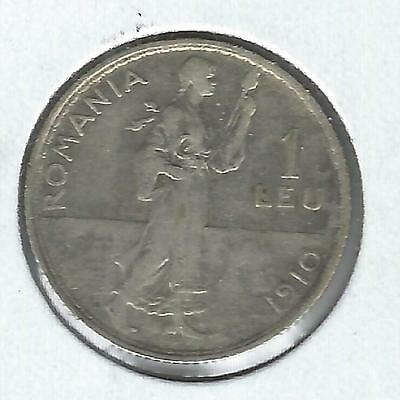 Romania 1 Leu 1910 Nice circulated