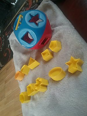 Tupperware Vintage Shape-O sorter baby toy 1970's Complete red blue yellow (#2)