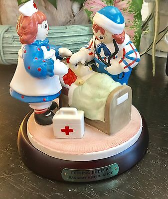 Flambro Raggedy Ann And Andy 'Feeling Better?' Figurine Statue Collectible