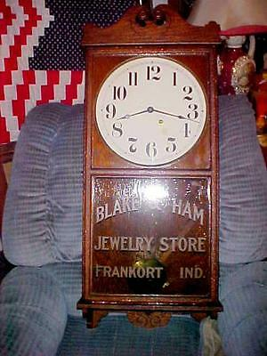 Advertising 1874 Clock Blake & Ham Jewelry Store Frankfort Indiana
