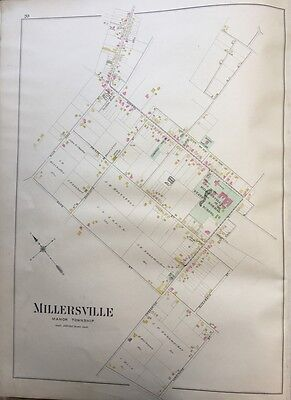 1899 Graves & Steinbarger, Millersville, Lancaster County, Pa, Copy Atlas Map
