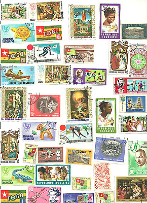 79 Mostly Different Postage Stamps from Togo.