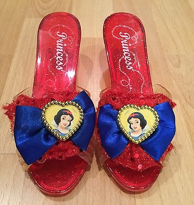 Disney Princess Snow White Red Plastic Slippers Shoes Girls Halloween Costume