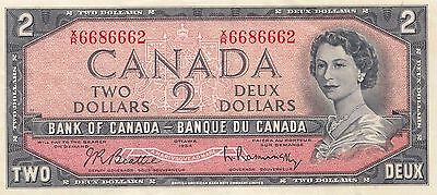 Bank Of Canada $2.00 Bank Note  (Obsolete)  'very Fine - Extra Fine'