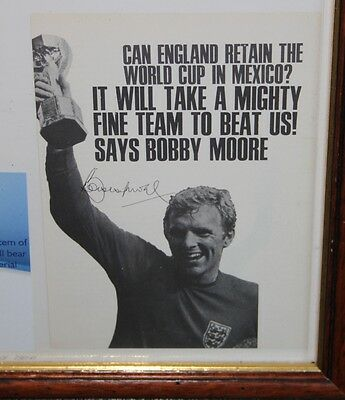 1970 mexico world cup Bobby Moore photo signed hand autograph Pele Alan Ball