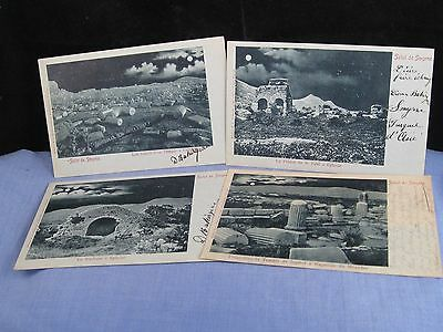 Old Photographs X4 Postcard Turkey Turkish Constantinople  Salut De Smyrne