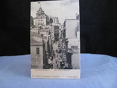 Old Photograph Postcard Turkey Turkish Constantinople Rue Yuksek Kaldirim  1327